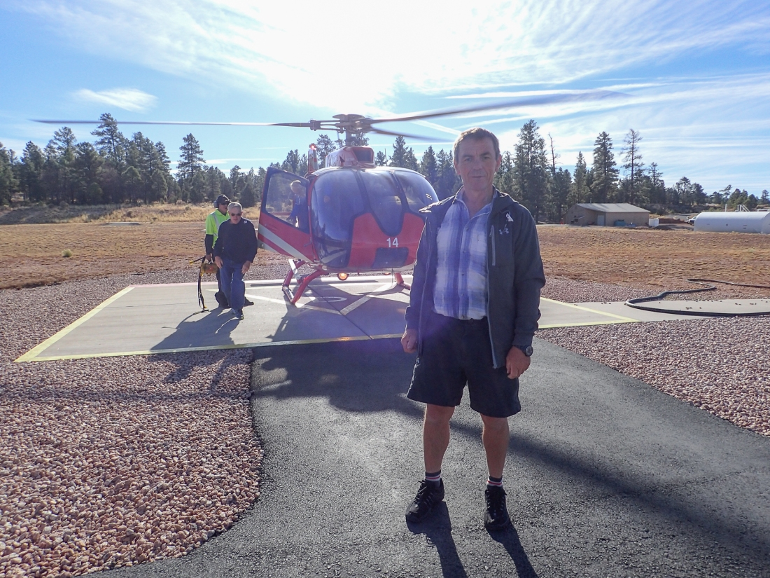 Keith at the Grand Canyon helicopter