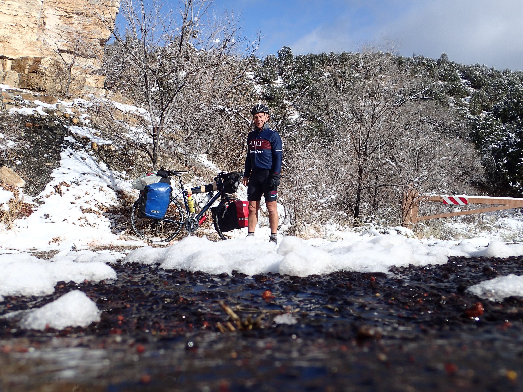 Good combo: snow and shorts
