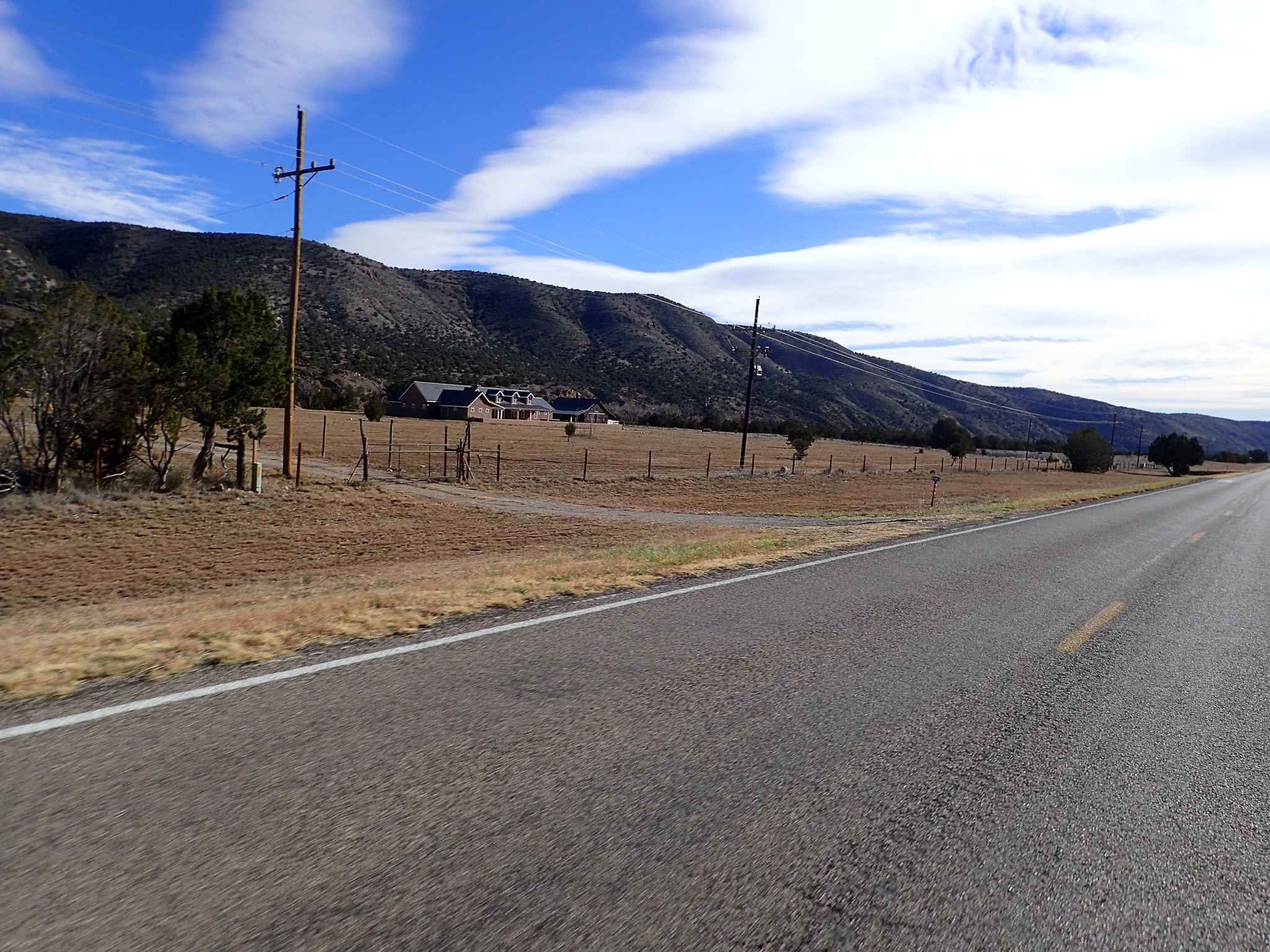 Large ranch farm under the hills