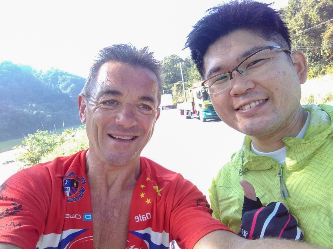 Dale and fellow cyclist