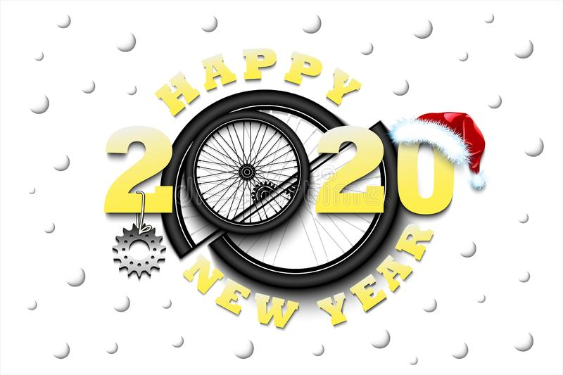 happy-new-year-bicycle-wheel-star-hat-creative-design-pattern-greeting-card-banner-poster-flyer-party-invitation-163914678