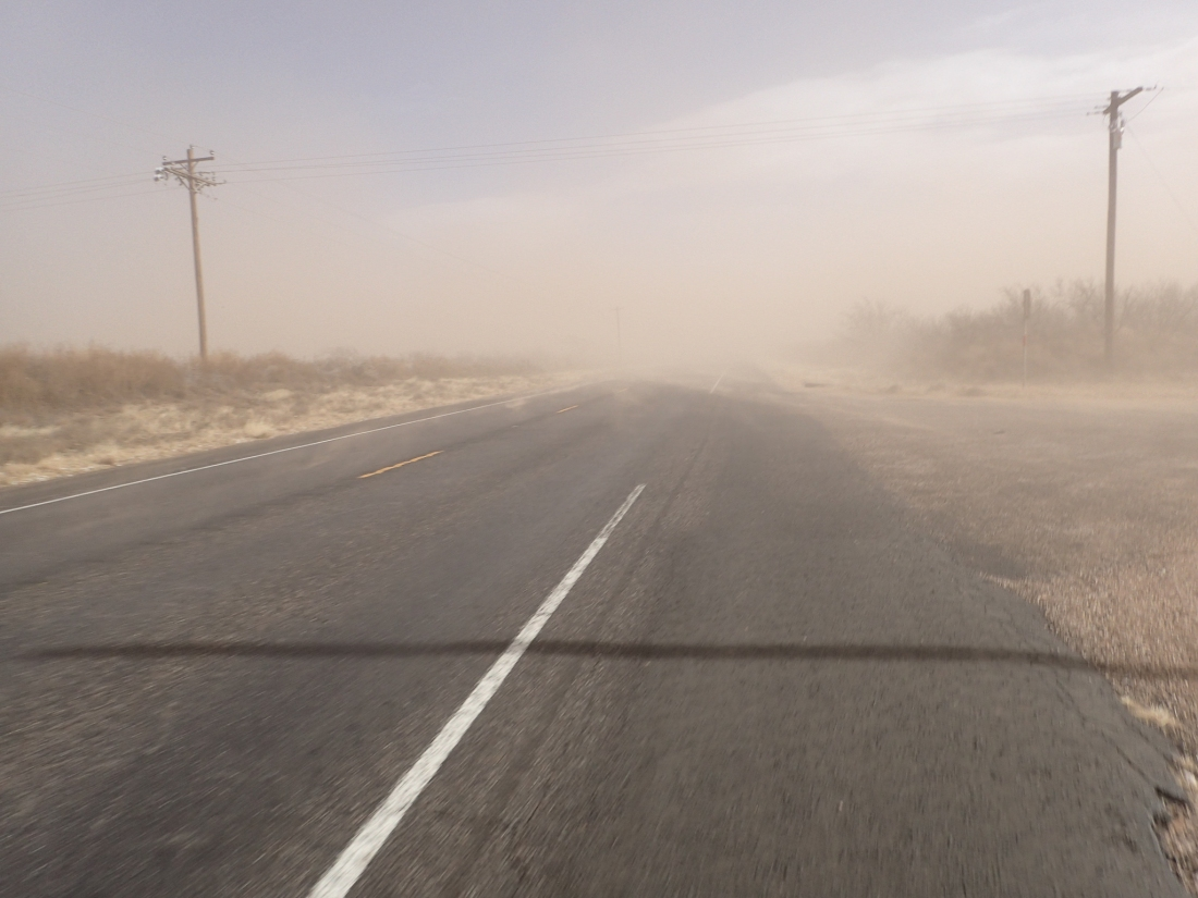 West Texas sand-storm