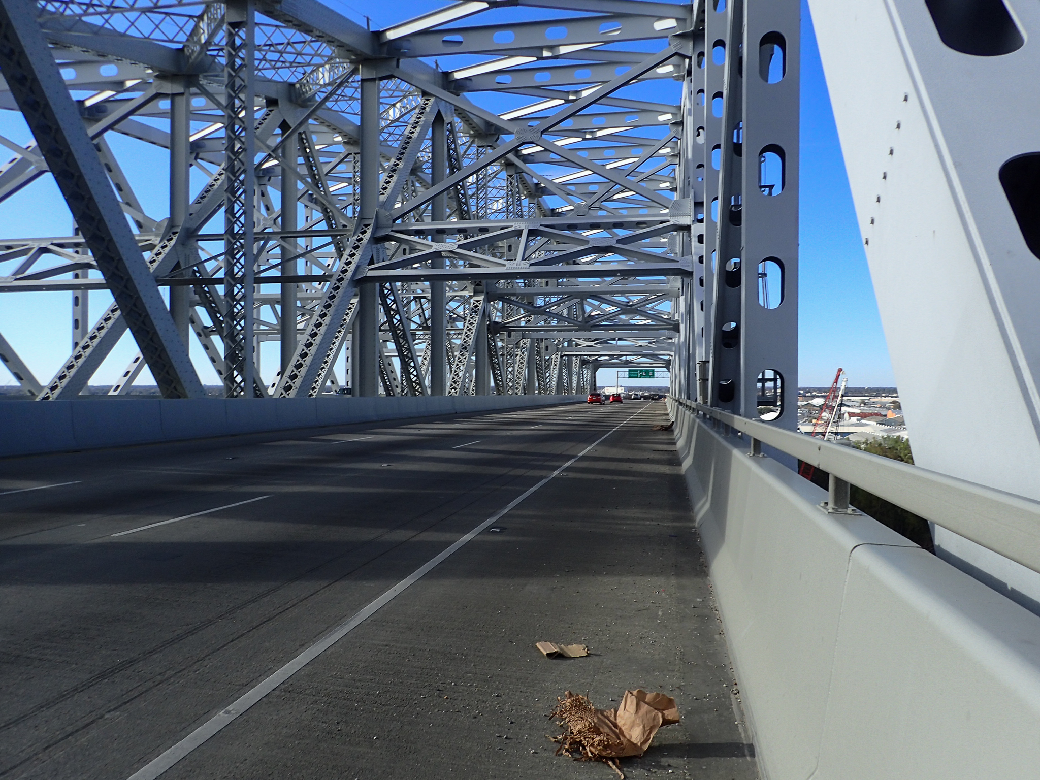 crossing the Mississippi River into New Orleans