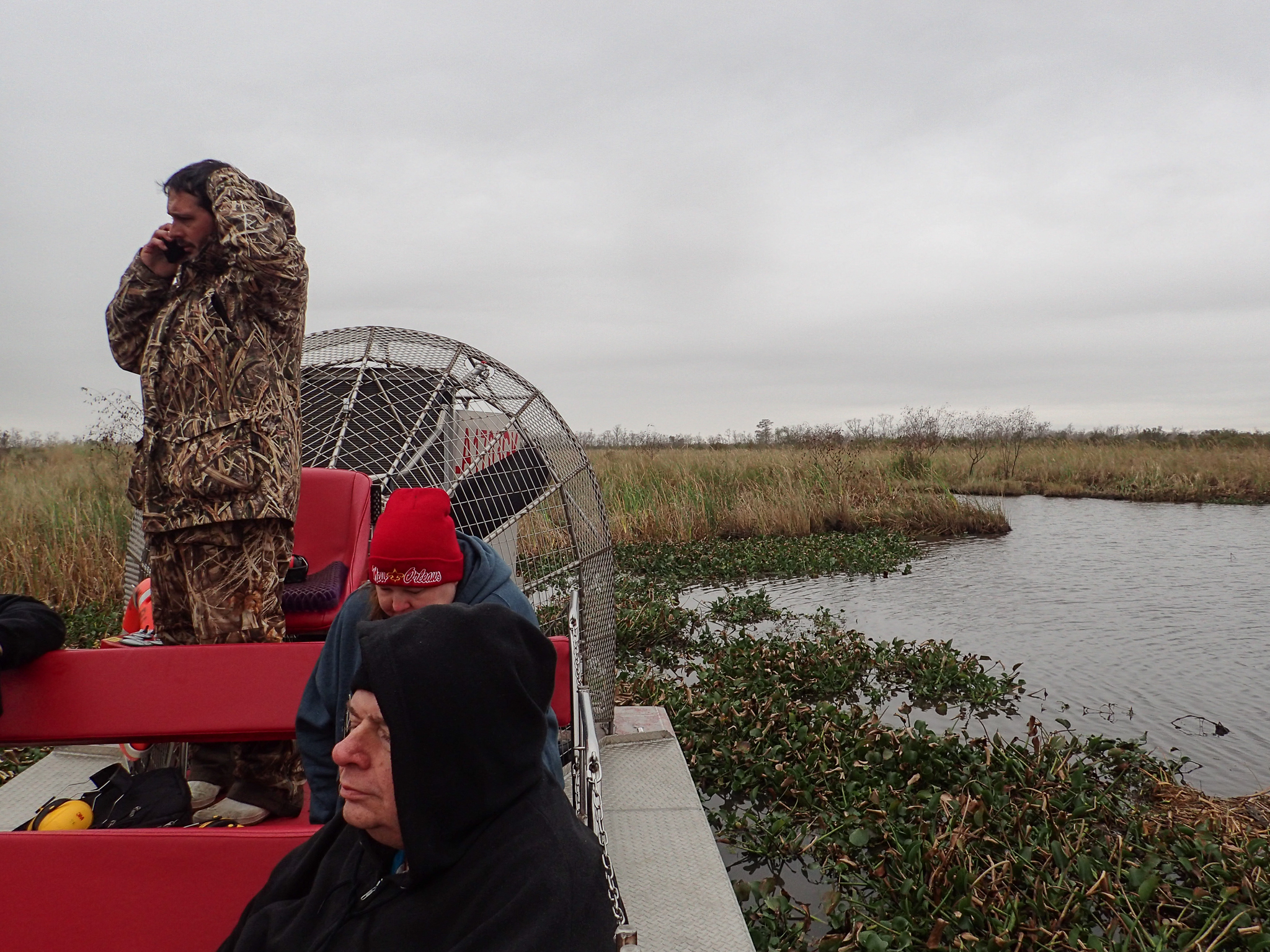 A swamp tour into the bayou from New Orleans