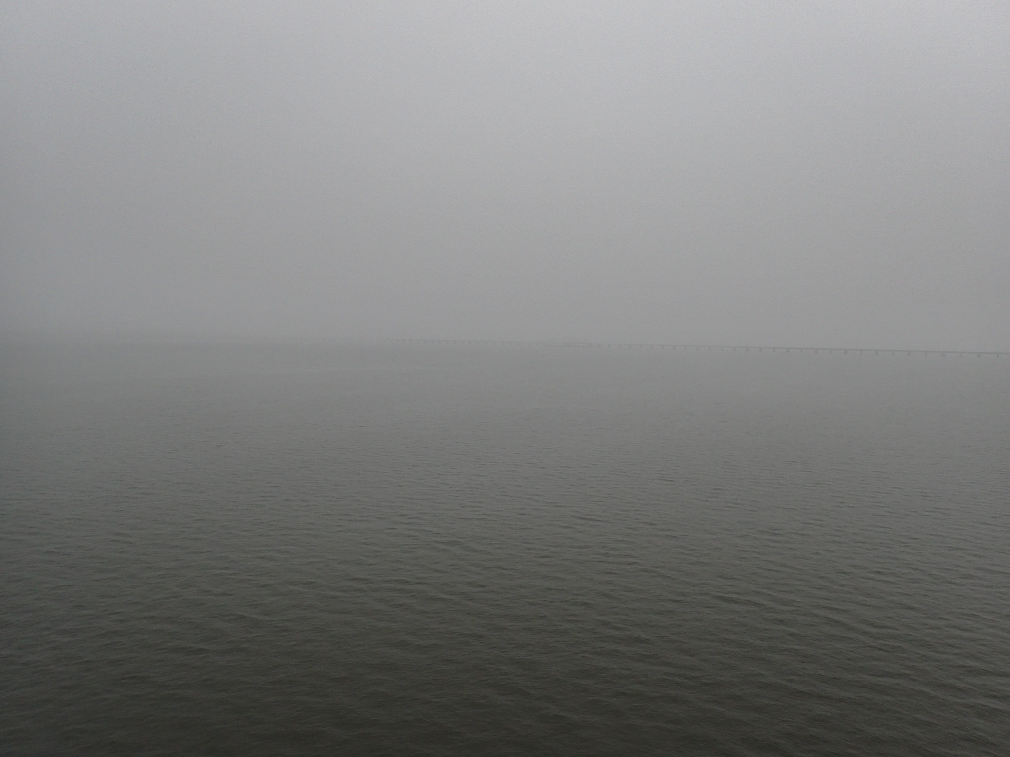 Fog across the Pearl River into Mississippi