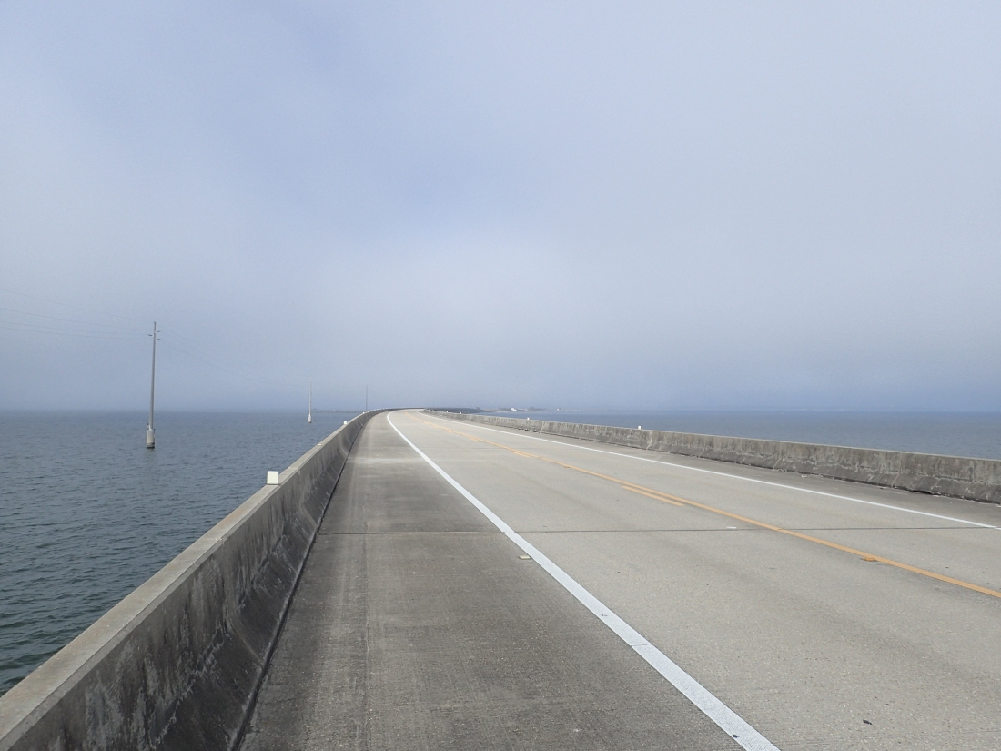 The Biloxi Bay causeway and bridge