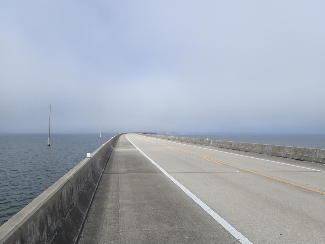 The Biloxi Bay causeway and bridge