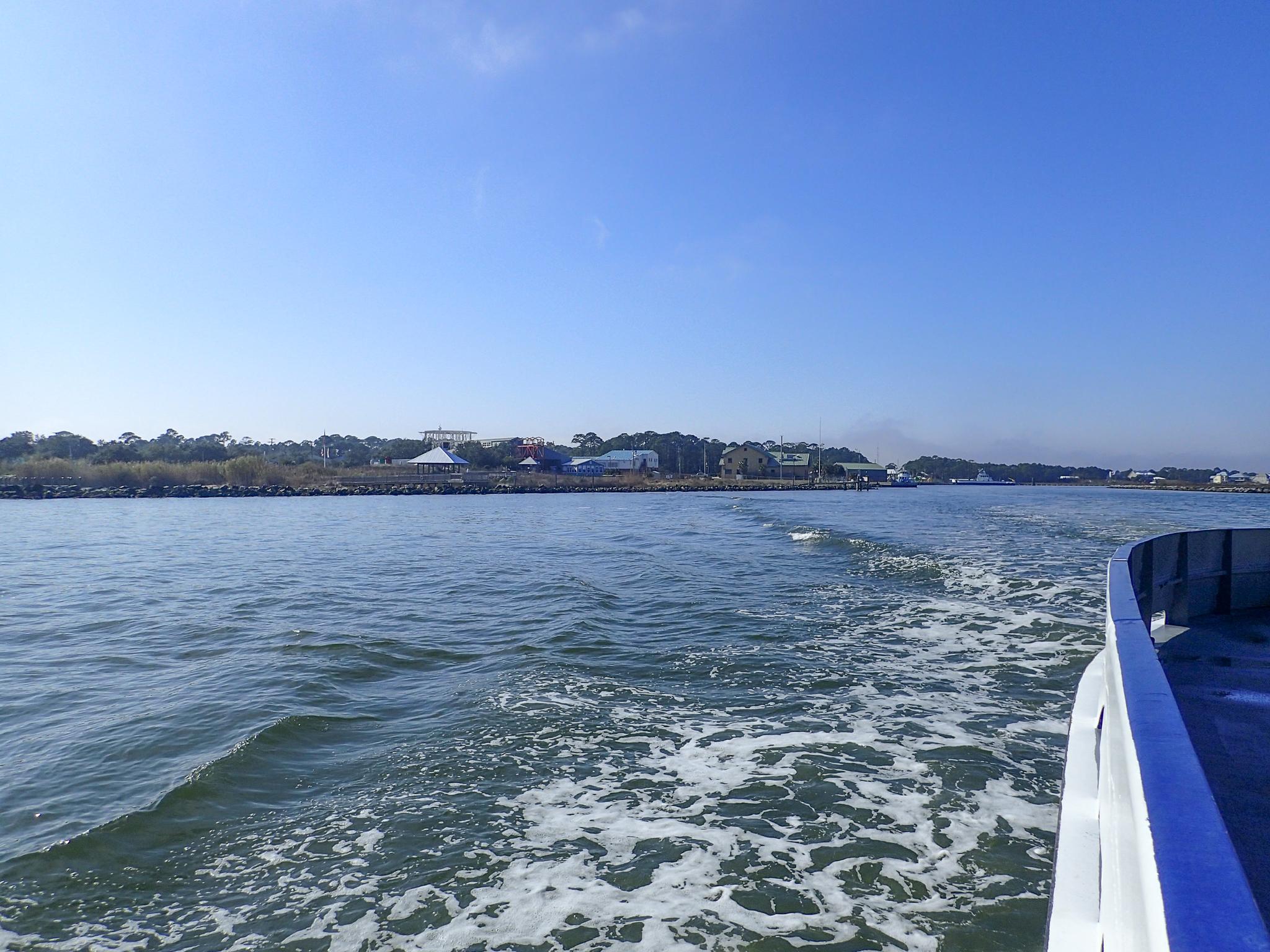 The Dauphin Island to Fort Morgan ferry, Alabama