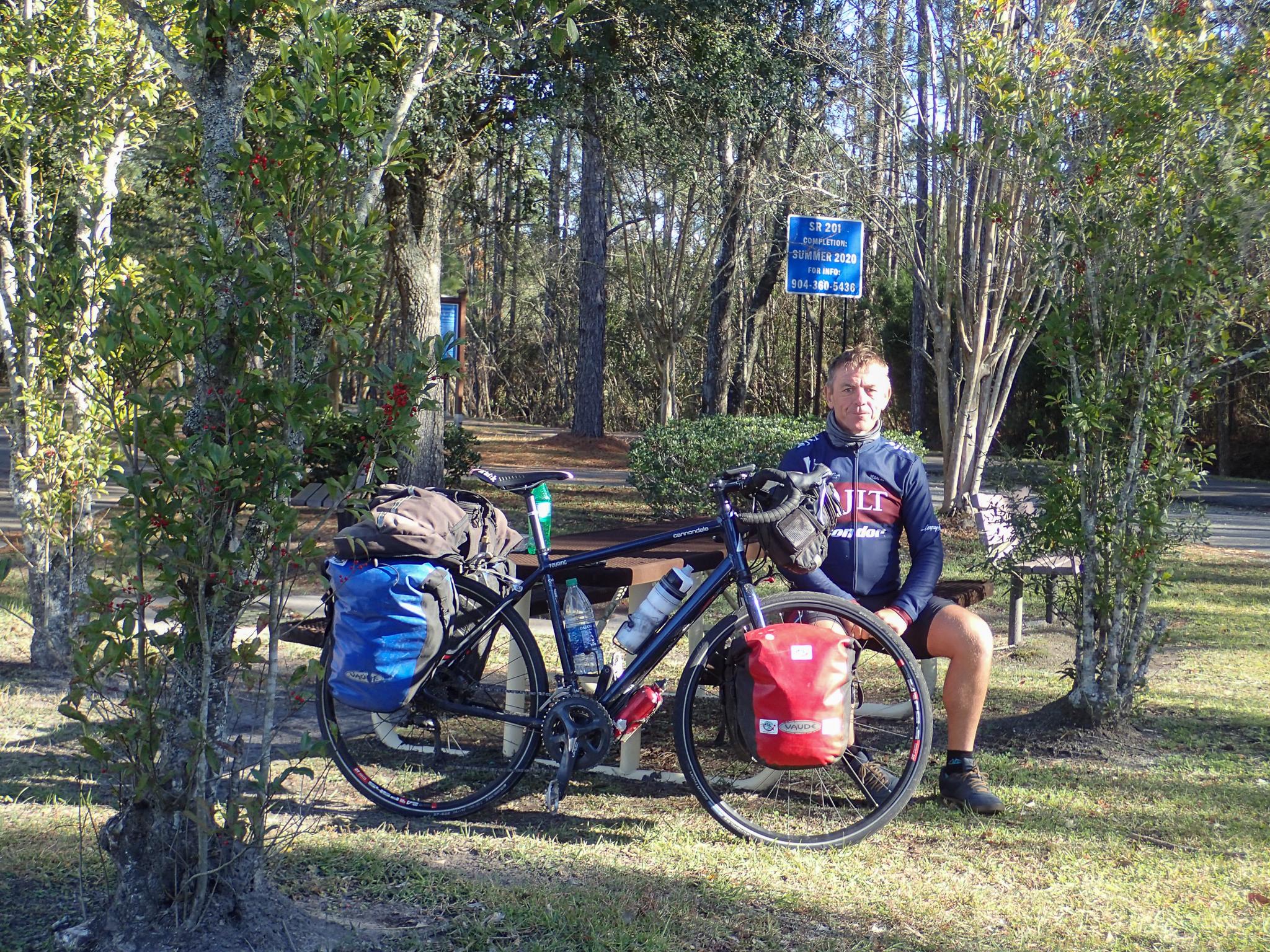 Keith at the Baldwin Rail Trailhead, Florida