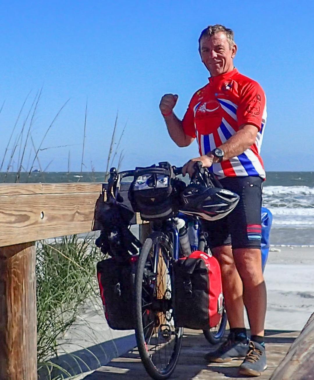 Keith at the Atlantic Ocean at Jacksonville Beach, Florida