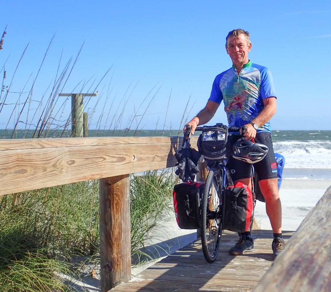 Keith meets the Atlantic Ocean at Jacksonville Beach, Florida