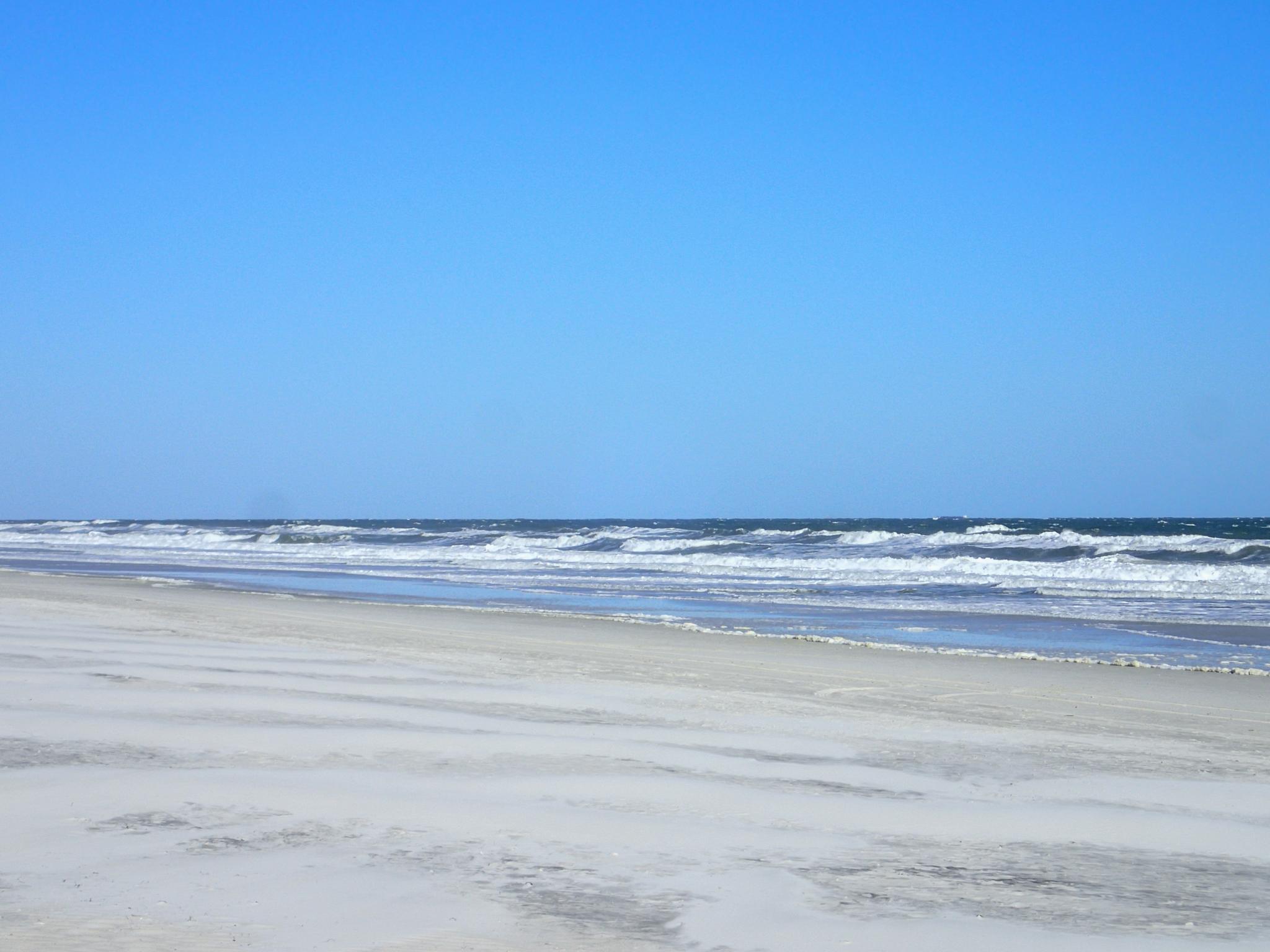 The Atlantic Ocean at Jacksonville Beach, Florida, USA