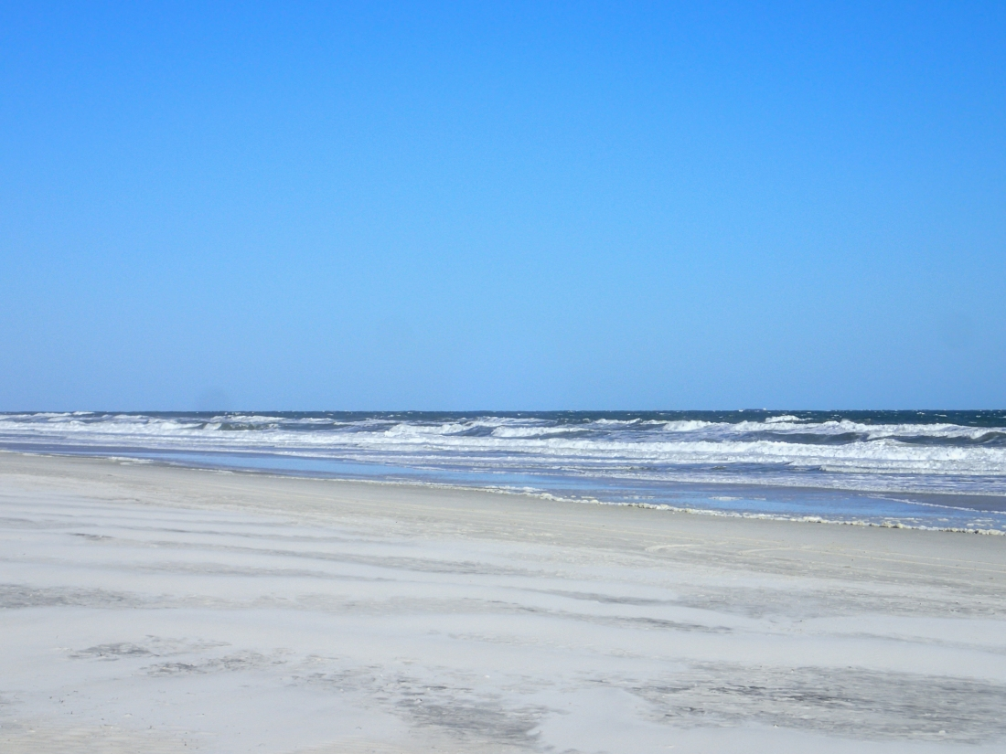 The Atlantic Ocean at Jacksonville Beach, Florida, USA