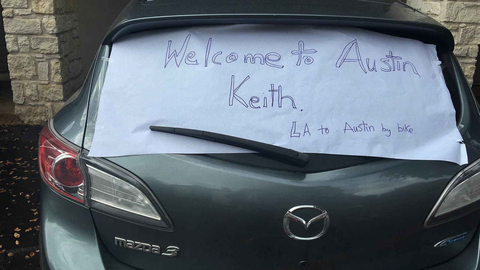 Welcome to Austin, Keith