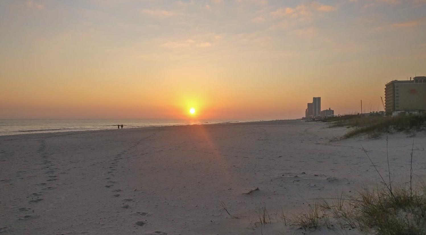 Sunset on the beach, Gulf Shores, Alabama