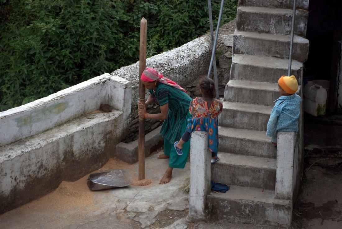 Ghuttu, camping op dak van huis