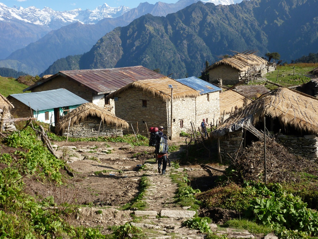 On the trail to Maggu, Uttarakhand, India. Trek Day 12