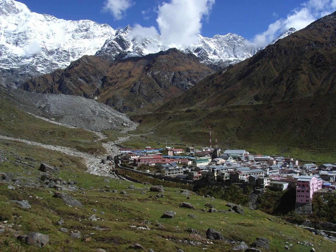 Looking down at Kedarnath, Uttarakhand, India. Trek Day 15