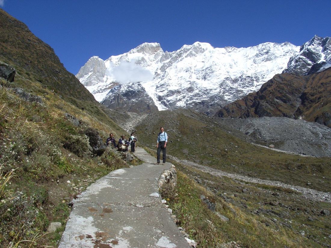 Jim on the trail above Kedarnath, Uttarakhand, India. Trek Day 15