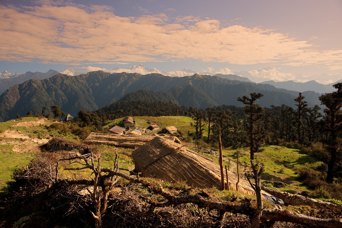 On the trail to Maggu, Uttarakhand, India. Trek Day 12