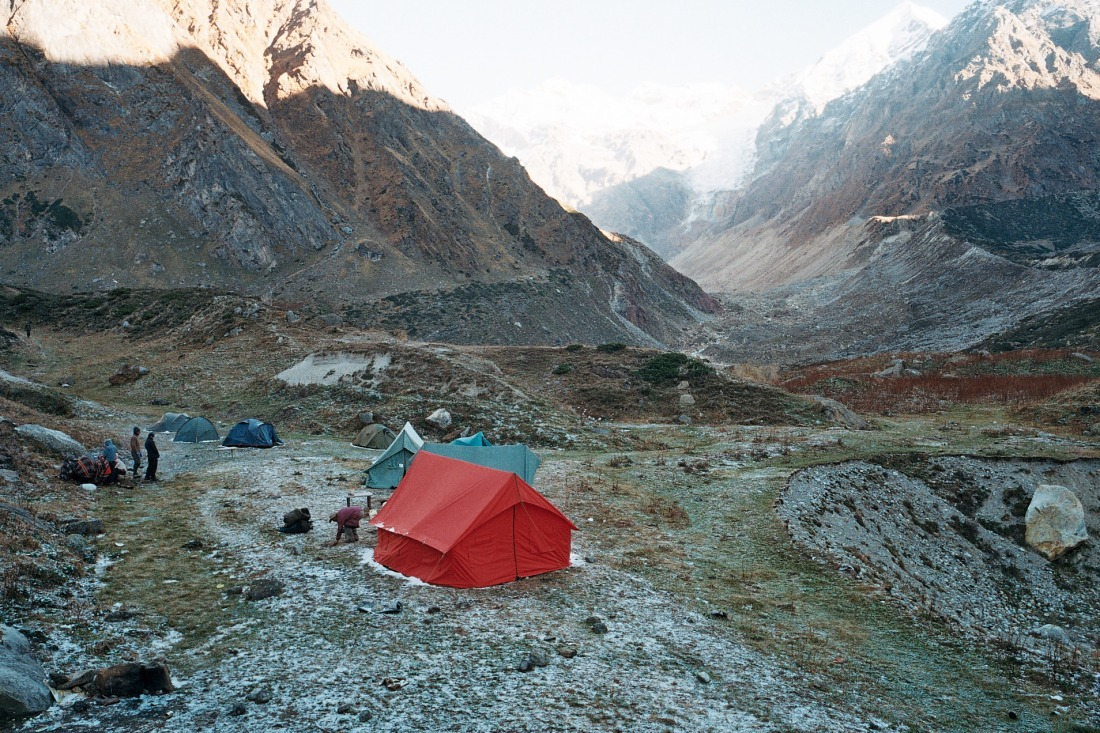 From the campsite at Chauki, Uttarakhand, India. Trek Day 20