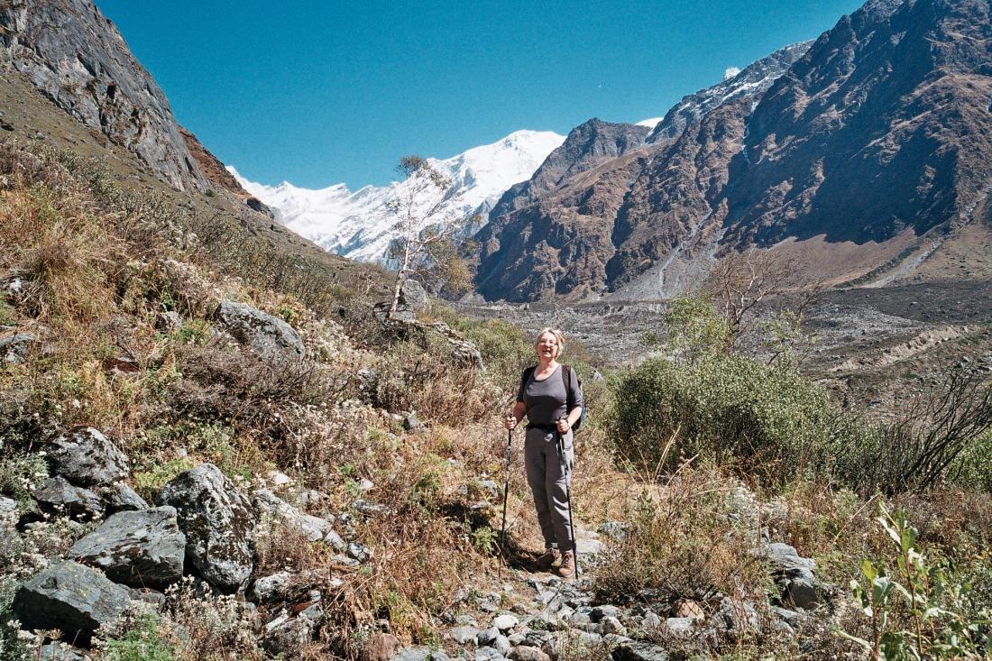 Adriana on the trail to Kalyani, Uttarakhand, India. Trek Day 20