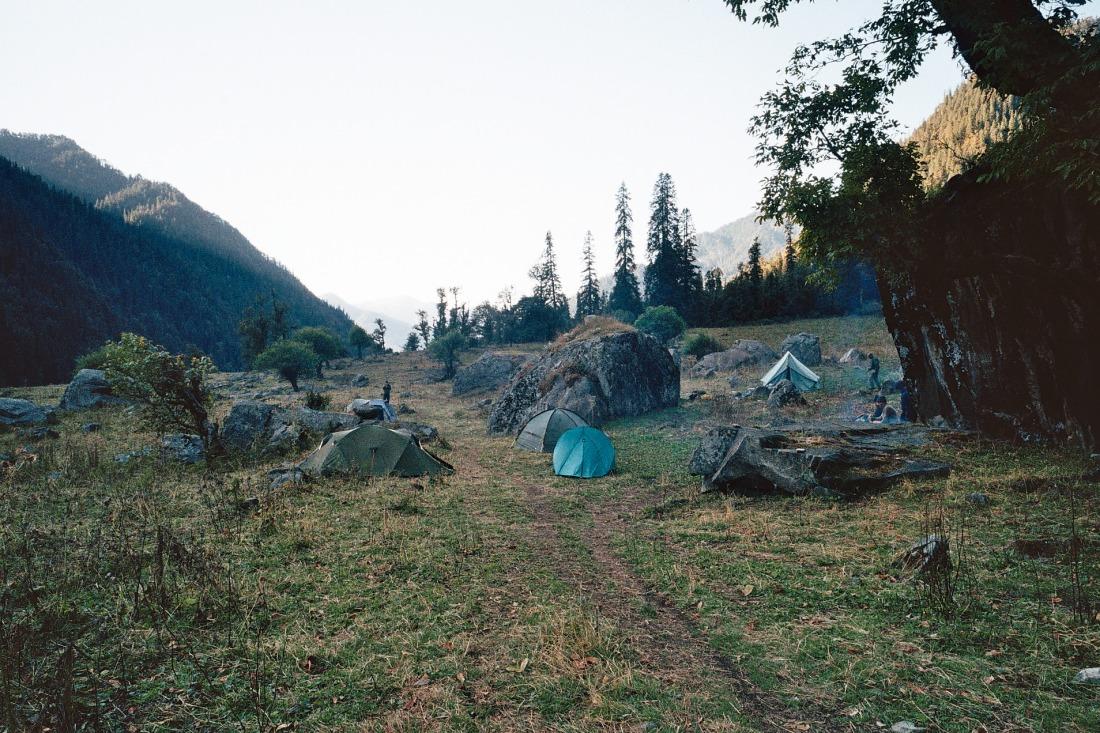 The campsite at Kalyani, Uttarakhand, India. Trek Day 21