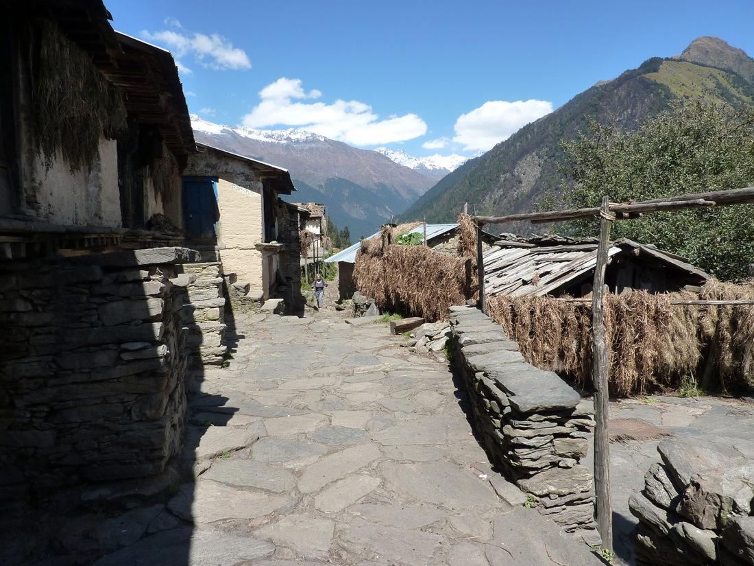 The village of Ganga on the trail to Rees, Uttarakhand, India. Trek Day 21