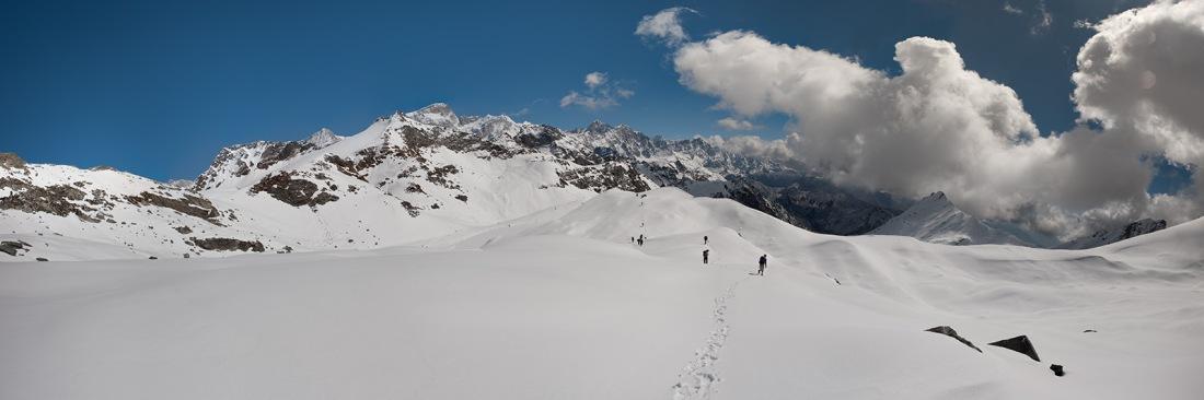 On the trail to Marsar Tal, Uttarakhand, India. Trek Day 18