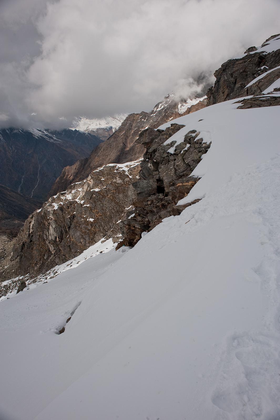 Before the descent to Marsar Tal, Uttarakhand, India. Trek Day 18