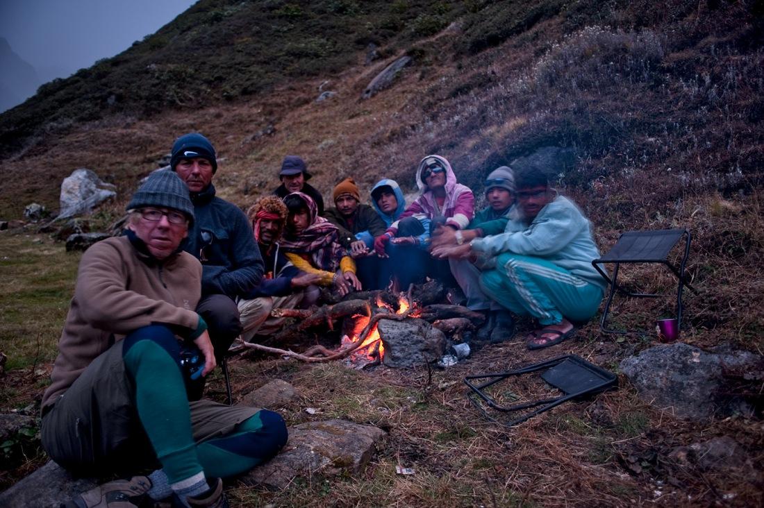 At the campsite at Chauki, Uttarakhand, India. Trek Day 19