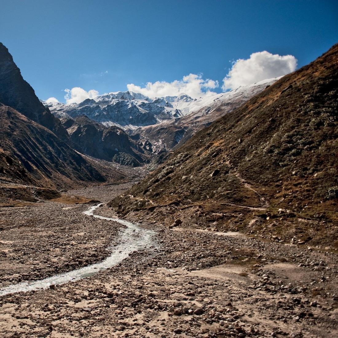 From the campsite at Chauki, Uttarakhand, India. Trek Day 20