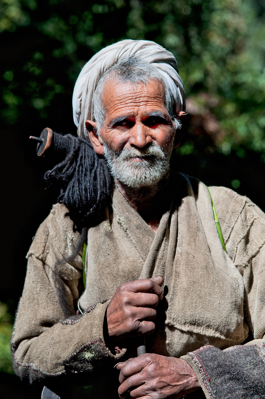 A fellow traveller on the trail to Rees, Uttarakhand, India. Trek Day 21