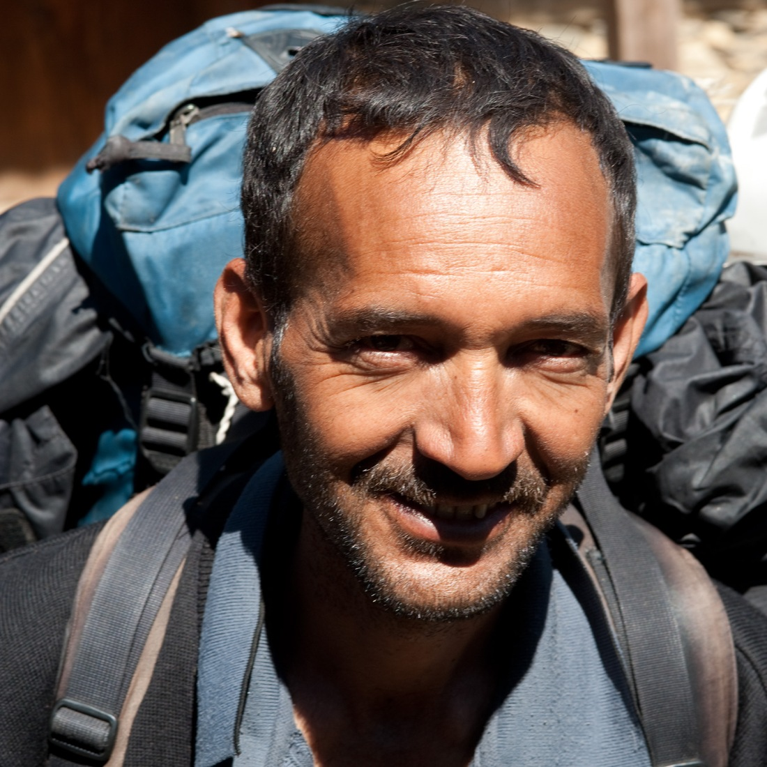 Ajay, our guide, on the way to Rees, Uttarakhand, India. Trek Day 21