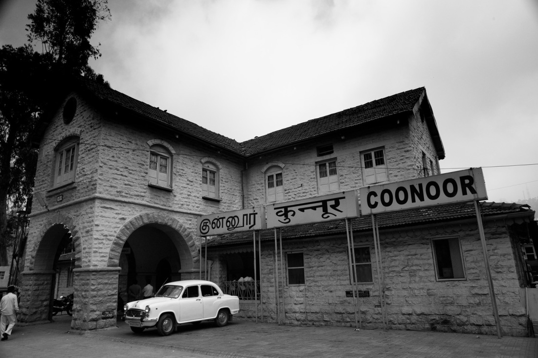 At Coonor Station. From the Nilgiri Mountain Railway, Tamil Nadu, India.