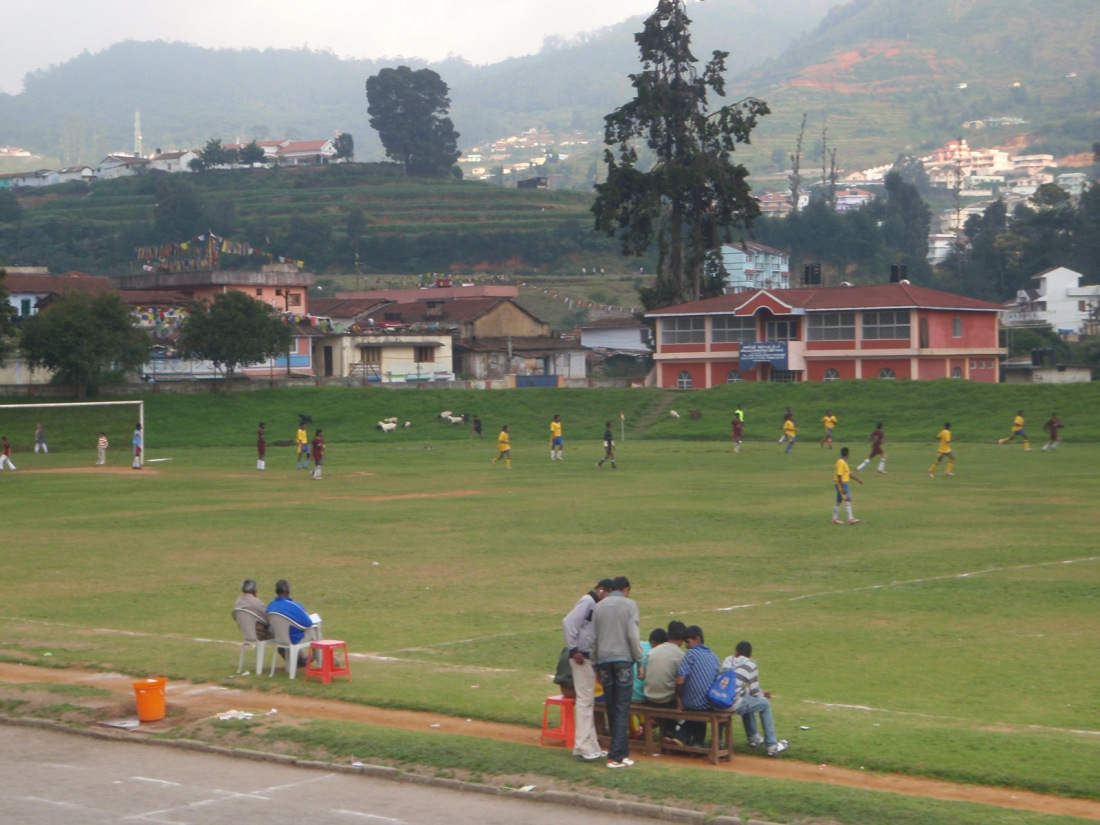 Football match at Ooty, Tamil Nadu, India