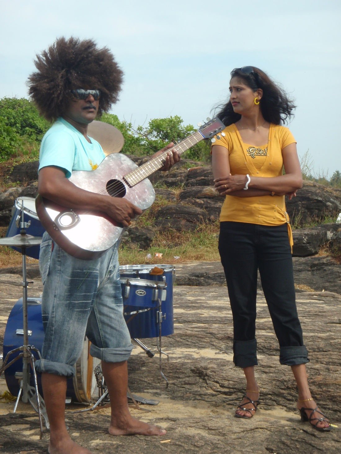 A Pop Video recording at Kappad Beach, Kerala, India